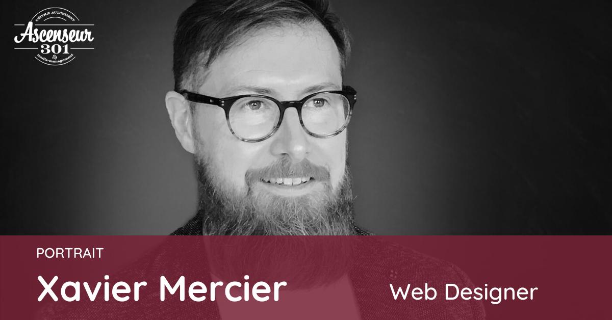 portrait de Xavier Mercier formation web designer