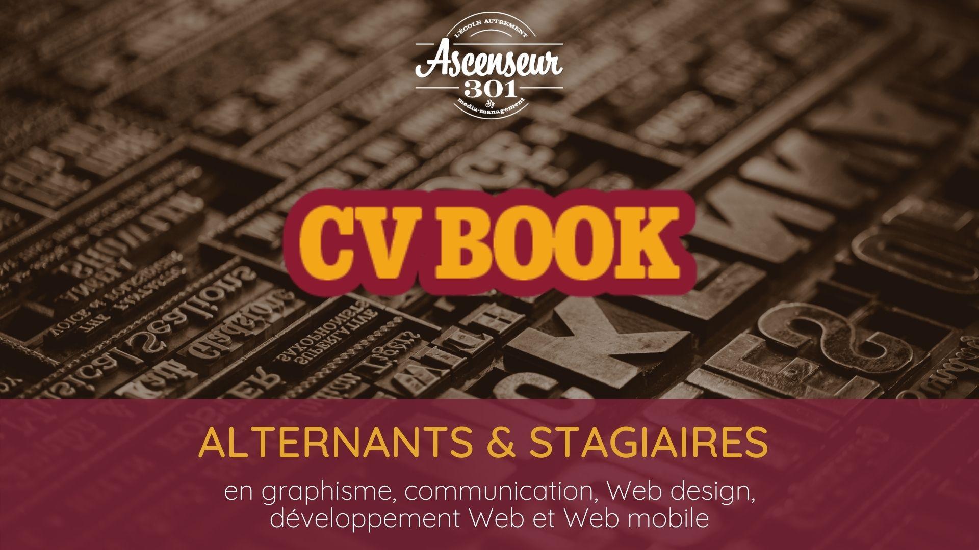 book cv des stagiaires et alternants en infographie communication numérique design développement web